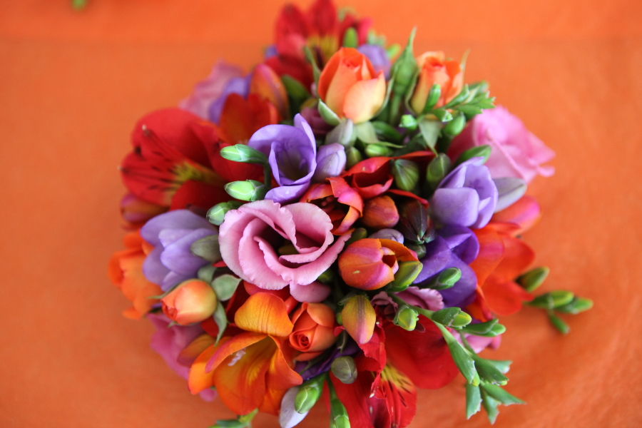 flowers, orange weddings