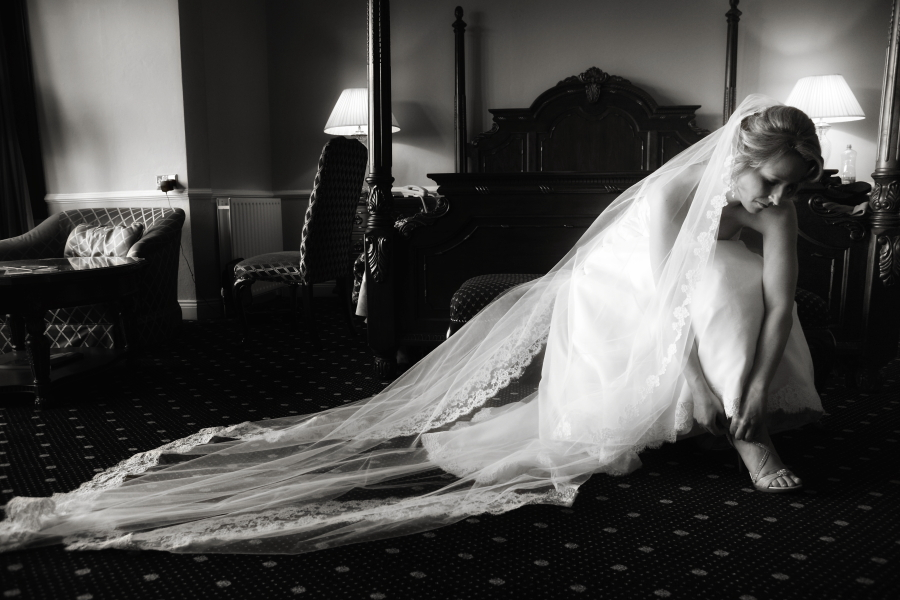 Bride, shoes, bridal, veil