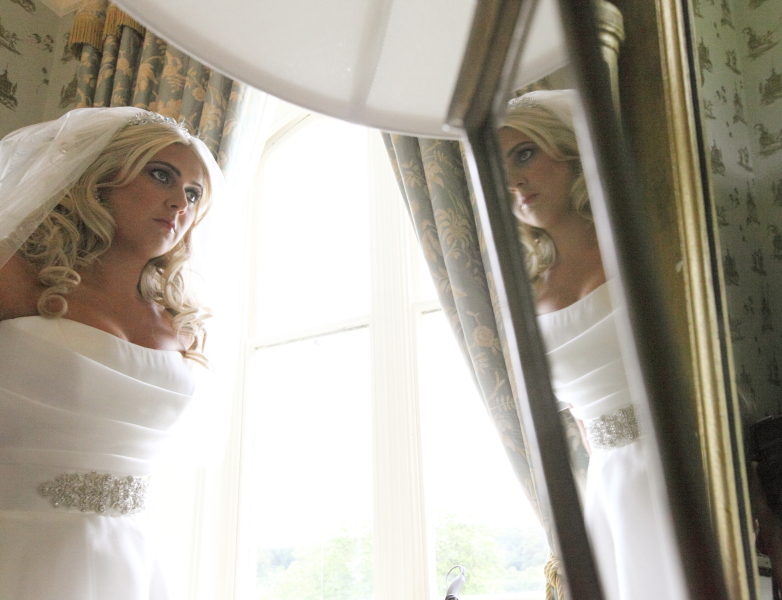 bridal reflection, mirror image, reflections