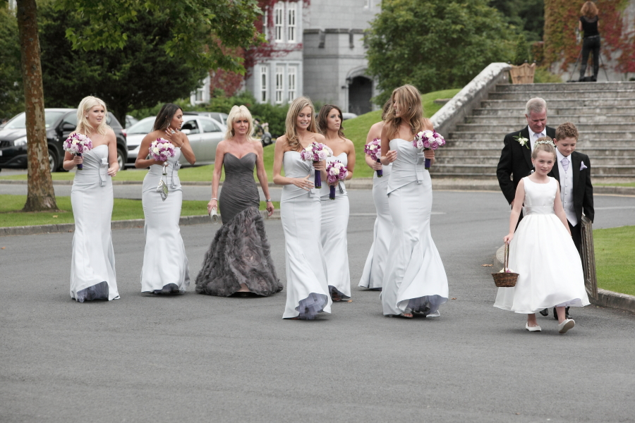 bridesmaids, mother-of-bride, dromoland castle weddings, grey-weddings