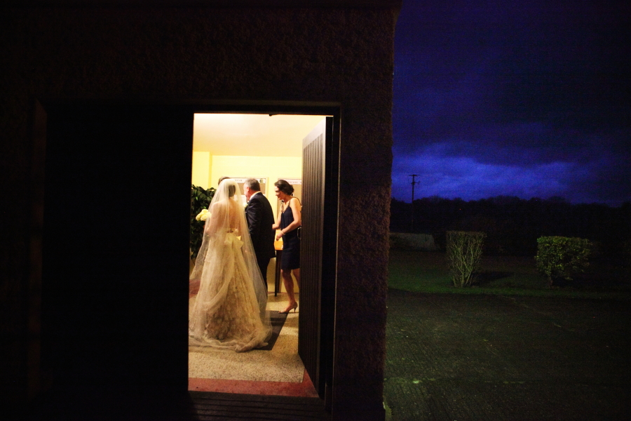 bridal entrance at twilight