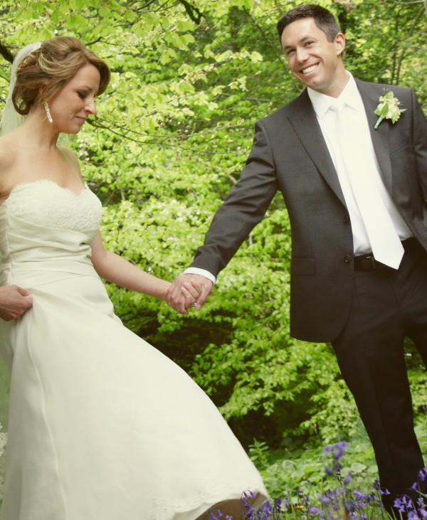 bride and groom holding hands, romance, weddings, adare manor weddings