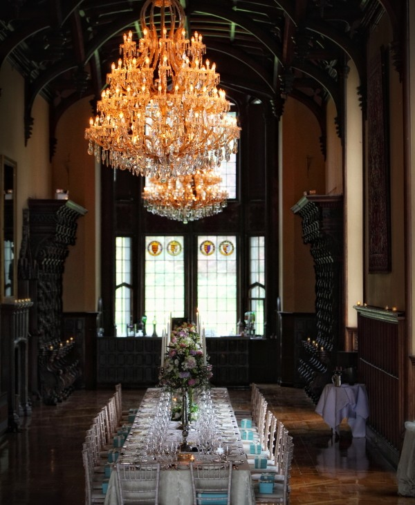 minstrels gallery, adare manor, weddings at the manor, table settings