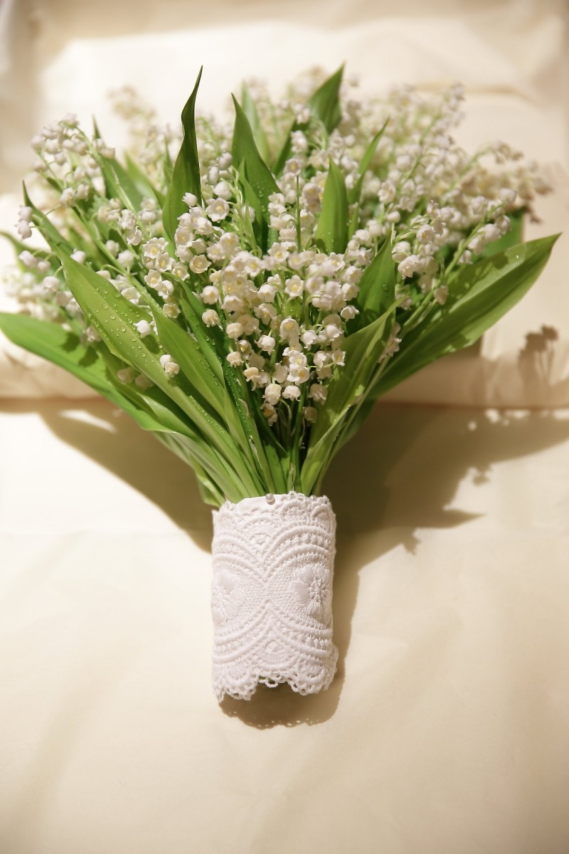Bouquet .Lily of the valley
