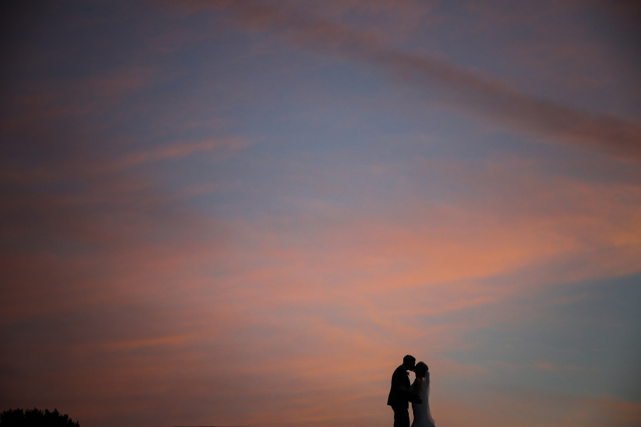 A Beautiful Sunset For A Beautiful Couple