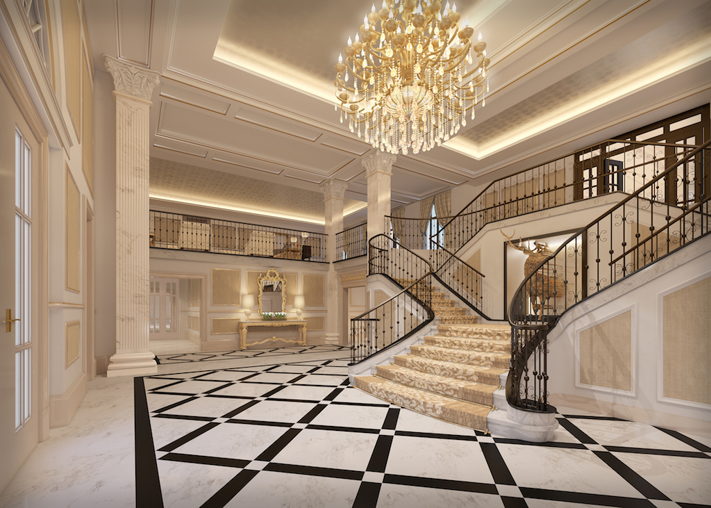 A dare to dance in the manor 39 s new ballroom west coast for Mansion floor plans with ballroom