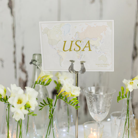 Table Names Wedding: Top 10 Creative Ideas For Your Travel Inspired Wedding
