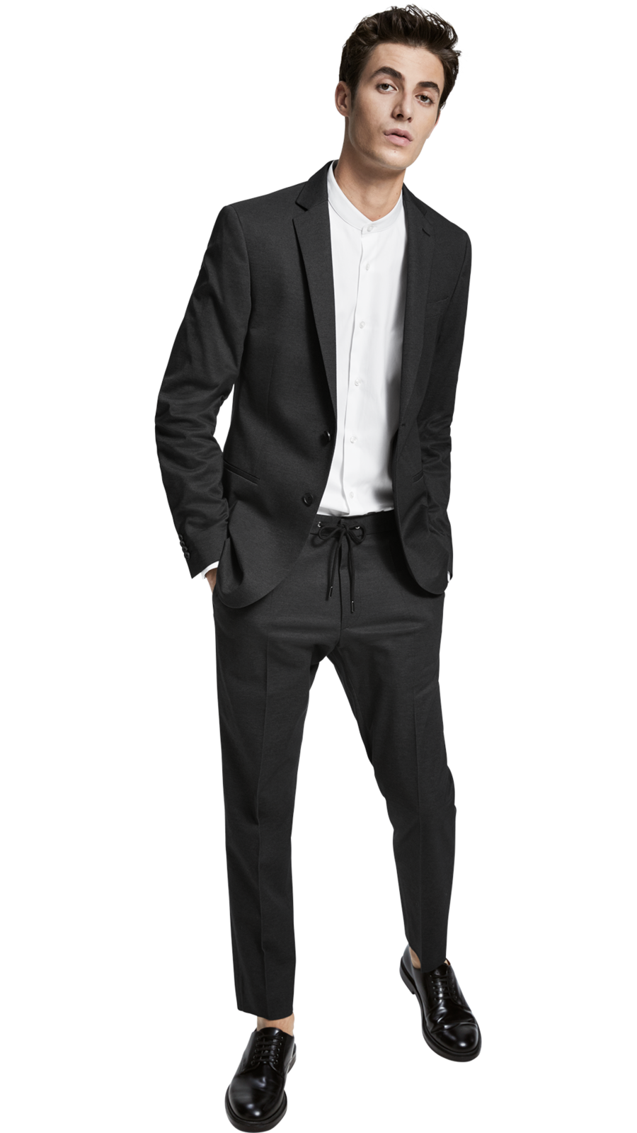 Hugo Boss - Slim-fit Jacket & Trousers in a melange cotton blend
