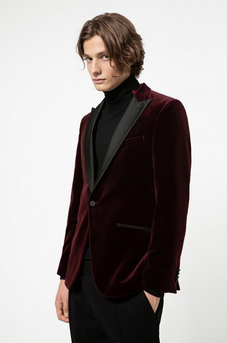 Hugo Boss - Slim-fit Evening Jacket in Velvet