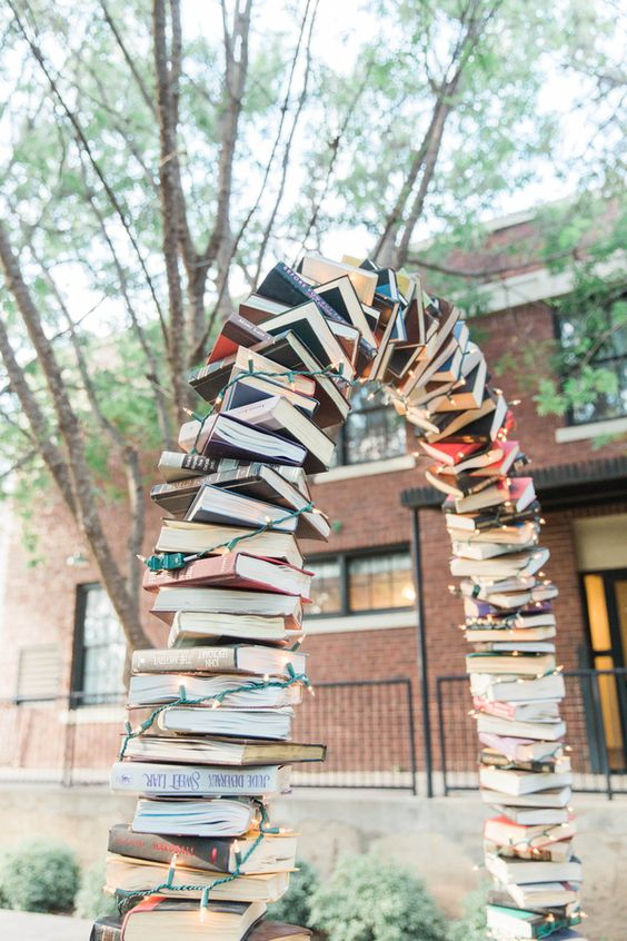 Arch made of books