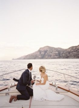 Arrival by Boat at a Nautical Wedding