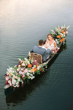 Arrival by Canoe at a Nautical Wedding