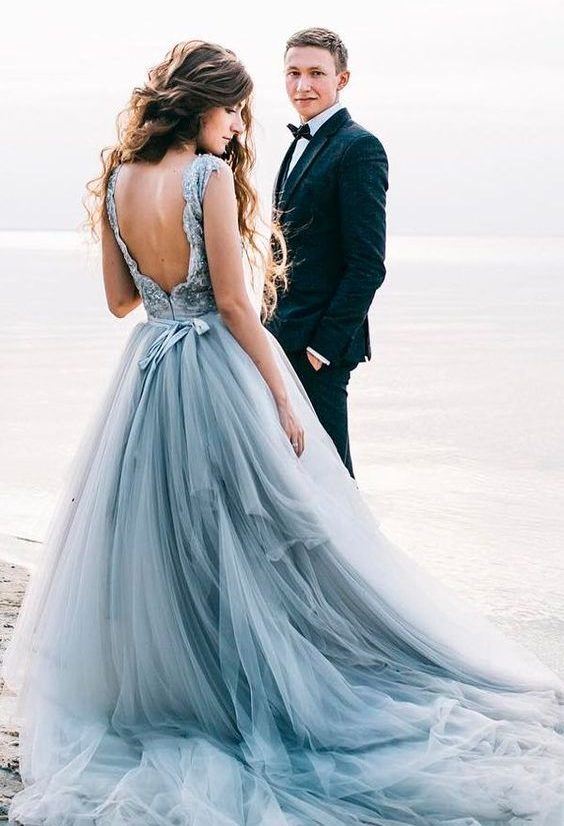Blue Wedding Dress for Nautical Wedding