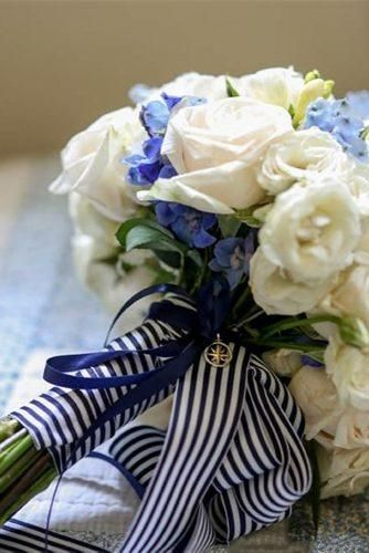 Ribbon Bridal Bouquet for Nautical Wedding