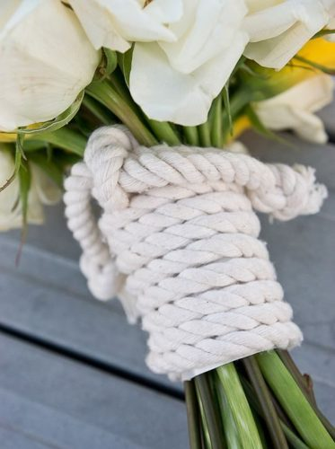 Rope Bridal Bouquet for Nautical Wedding