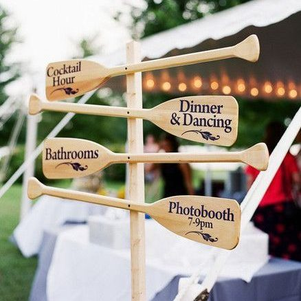 Nautical Wedding Oars Signage