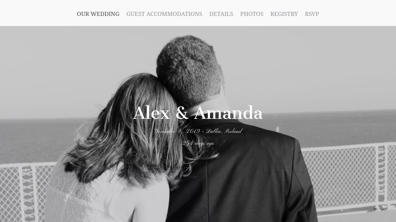 Couple's Wedding Website